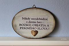 Tabuľky - Nikdy neodchádzaj z domu bez ... tabuľka - 12190872_