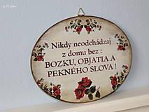 Tabuľky - Nikdy neodchádzaj z domu bez ... tabuľka - 12190877_