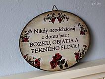 Tabuľky - Nikdy neodchádzaj z domu bez ... tabuľka - 12190878_