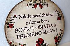 Tabuľky - Nikdy neodchádzaj z domu bez ... tabuľka - 12190881_