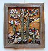 Obrazy - Jesenné stromy - 12192870_