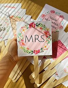 Papiernictvo - Rekvizity na fotenie na svadbu - FLOWER - 12191337_