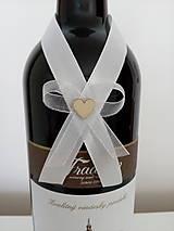 Pierka - Svadobná mašľa na fľašu 1 - 12191090_