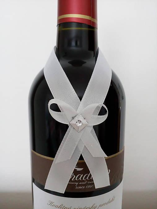 Svadobná mašľa na fľašu 3
