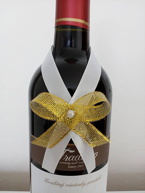 Svadobná mašľa na fľašu 4