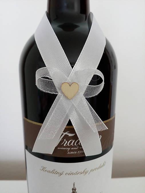 Svadobná mašľa na fľašu 1