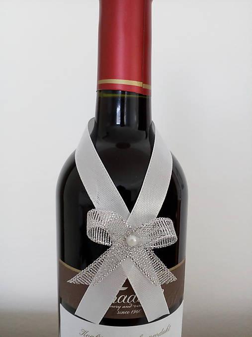 Svadobná mašľa na fľašu 5