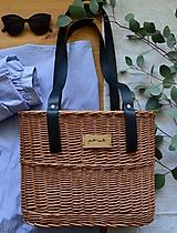 Kabelky - Prútená kabelka do ruky N°7 - dlhý popruh - 12192973_