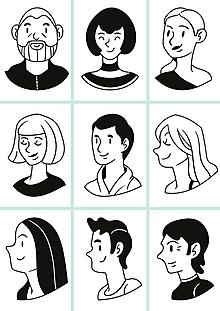 Hračky - Pexeso ľudia tváre a torzá - 12190012_