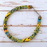 Náhrdelníky - Háčkovaný náhrdelník - 12192831_