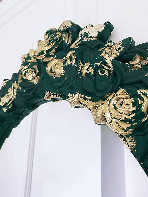 Ozdobné zrkadlo Emerald beauty
