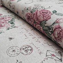 Textil - Ruže na béžovej - 12191466_