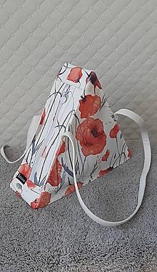 Kabelky - Trianglová dizajnová kabelka –  Vlčí mak - 12194373_