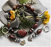 Sady šperkov - Jaspis Picasso - 12194367_