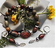 Sady šperkov - Jaspis Picasso - 12194419_