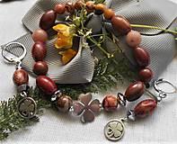 Sady šperkov - Jaspis Picasso - 12194427_