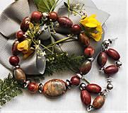 Sady šperkov - Jaspis Picasso - 12194437_