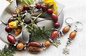 Sady šperkov - Jaspis Picasso - 12194334_