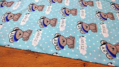 Textil - Bavlnená látka - Its a Boy - cena za 10 centimetrov - 12195427_