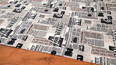 Textil - Bavlnená látka - Noviny - cena za 10 centimetrov - 12195440_