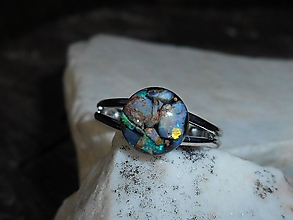 Prstene - ring with happy stone-opals II - 12196033_