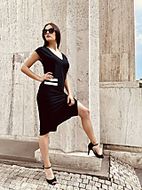 Šaty - FNDLK bambus šaty 479 RV midi s rozparkem - 12193737_