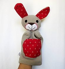 Hračky - Maňuška zajac - Zajko Námorník - 12194067_