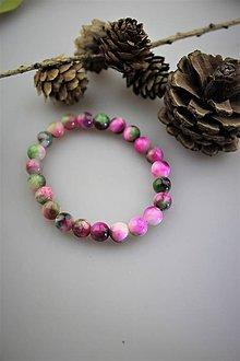 Náramky - divé ruže náramok z jadeitu AKCIA! - 12194091_