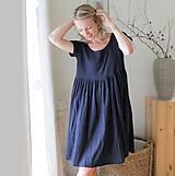 Šaty - . šaty vílí . temně modré - 12195211_