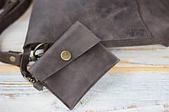 Kabelky - kožená hnedá kabelka_zľava - 12195145_
