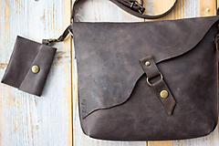 Kabelky - kožená hnedá kabelka_zľava - 12195146_
