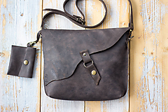 Kabelky - kožená hnedá kabelka_zľava - 12195147_