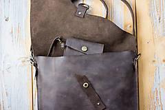 Kabelky - kožená hnedá kabelka_zľava - 12195148_