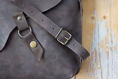 Kabelky - kožená hnedá kabelka_zľava - 12195149_