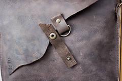 Kabelky - kožená hnedá kabelka_zľava - 12195150_