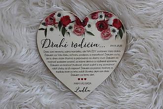 Darčeky pre svadobčanov - Magnetka ako poďakovanie pre rodičov - 12193546_