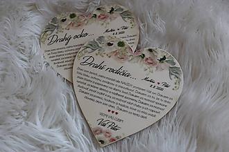 Darčeky pre svadobčanov - Magnetka ako poďakovanie pre rodičov - 12193552_