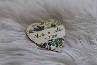 Darčeky pre svadobčanov - Darčeky pre svadobčanov - magnetky v tvare srdiečka - 12193611_