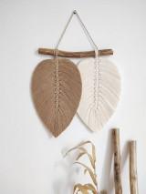 Dekorácie - Makramé závesná dekorácia NATURE (Piesková/prírodná biela) - 12195264_