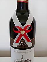 Pierka - Svadobná mašľa na fľašu 8 - 12193992_