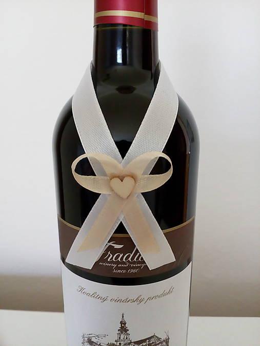 Svadobná mašľa na fľašu 9