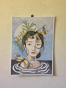 Kresby - Print Vážky - 12194105_