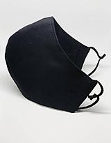 Rúška - Čierne bavlnené rúško na tvár - všetky veľkosti (Pánske biela antibakteriálna bavlna so striebrom) - 12195942_