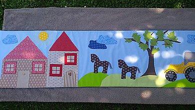 Úžitkový textil - Zástena za posteľ krajinka - 12194040_