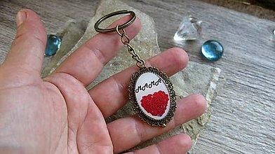 Kľúčenky - Prívesok na kľúče mama (bronzový, č. 3264) - 12194858_