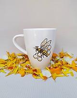 Nádoby - Včelia kráľovná, hrnček pre včelára - 12193898_