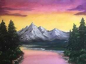 Dobrý obchod - Západ slnka nad horami - 12194015_