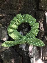 Ozdoby do vlasov - gumička do vlasov malá -zelená - 12193443_