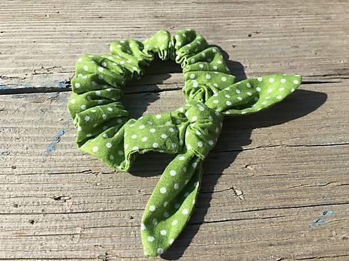 gumička do vlasov malá -zelená