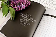 """Papiernictvo - Svadobný plánovač """"navždy"""" + nálepky - 12198206_"""